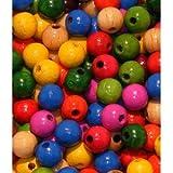 50 Holzperlen 10mm bunt speichelfest & schweißecht Made in Germany [Spielzeug]