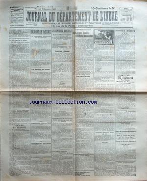 JOURNAL DU DEPARTEMENT DE L'INDRE [No 261] du 15/11/1922