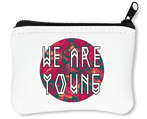 We Are Young Runic Fashioned Slogan Billetera con Cremallera Monedero Caratera