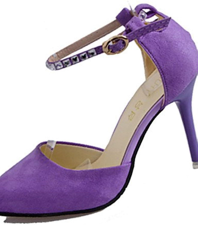GGX/Damen Schuhe Fleece Sommer Heels Heels Casual Stiletto Heel andere schwarz/violett