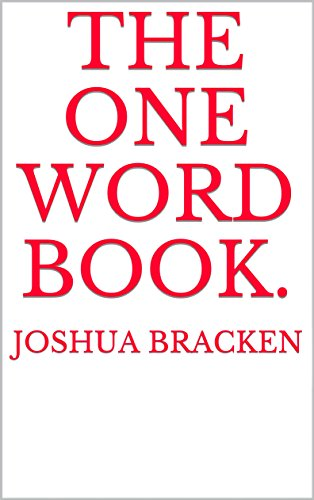 the one word book. (English Edition)