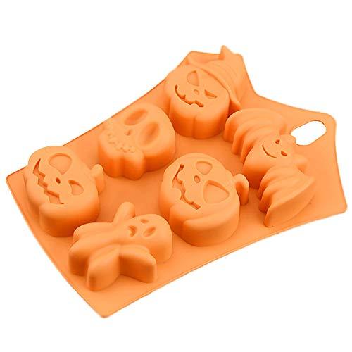YOYGADING Halloween Fledermäuse Backformen Silikon Kuchenform von Kürbis für Kuchen Muffin Oder Gelee, Orange,22.58 * 17.1cm