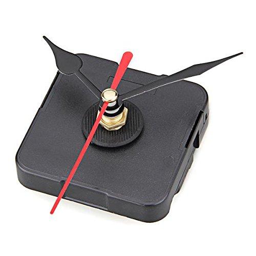 Ecloud Shop Maquinaria Reloj Movimiento DIY Agujas de Segundo Rojo Minuto Hora Negro