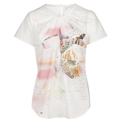 SEIDENSTICKER Damen Bluse Schwarze Rose 1/2-Arm Bügelleicht Fashion-Bluse Ohne Manschette rose bunt (0043)