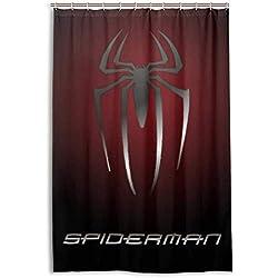 NR Spiderman Douche Rideau Doublure Étanche Polyester Tissu Salle De Bains Rideau De Douche Tissu Rideau De Douche 12 Crochets 48 x 72 Pouces