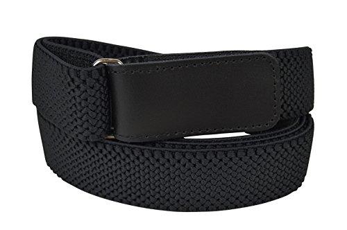 taglia 40 ca2b3 77784 Olata Unisex Cintura Elasticizzata, Regolabili con Apertura Hook & Loop,  3cm. Nero