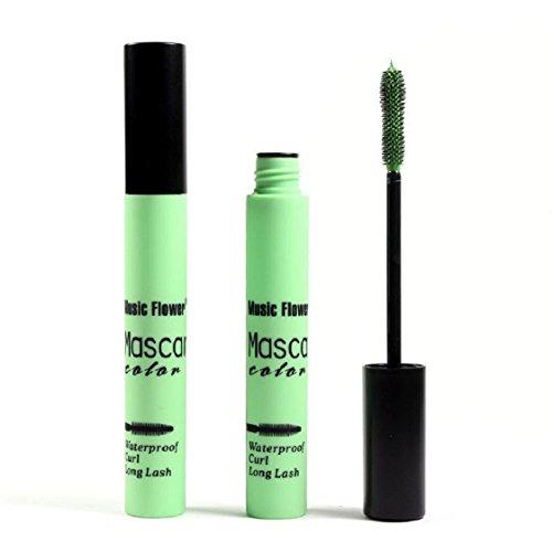 Culater® Imperméable à l'eau de Maquillage des Cils à Long Curling Cils de Mascara Prolongation vert