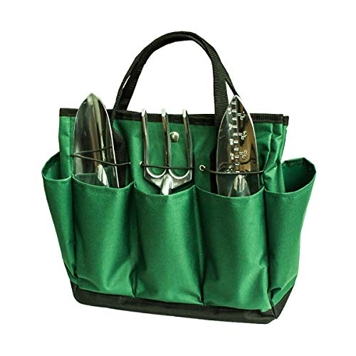 Nosii Tragbare Tragetasche mit 8 Taschen Tasche für Gartenprojekte Heavy Duty Oxford (Heavy-duty-tragetasche)