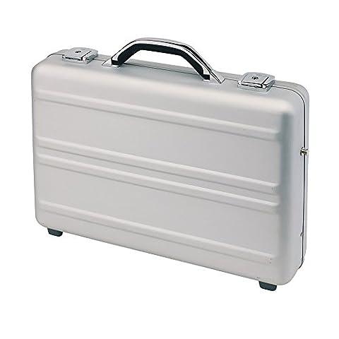 Aktenkoffer Aluminium Silber Attachékoffer 44,5 x 32,5 x 10 cm