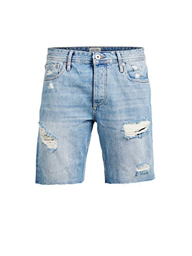 JACK JONES - Bermuda herren rick original shorts mit trÄnen xl licht denim