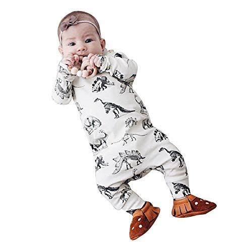 278f559b1 YanHoo Ropa para niños Recién Nacido bebé niño niña Manga Larga ...