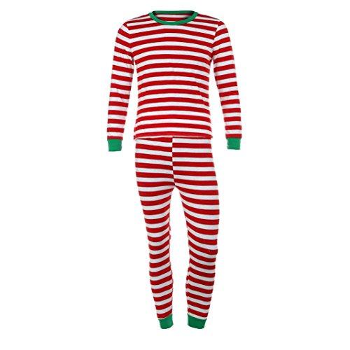 Gaddrt Frauen / Männer Paar Familie Matching Weihnachten Pajamas Set Bluse + Santa Striped Hosen Outfits Kleider Set (M, (Ideen Halloween Süßes Paar Outfit)
