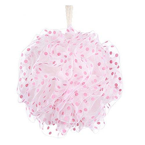 Épaississement laveur bain mousseux Mesh Bath Sponge Ceinture ( rose )
