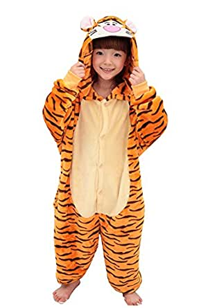 Tonwhar Costumes d'Halloween pour enfant enfants Kigurumi Combinaison Animal Cosplay - -