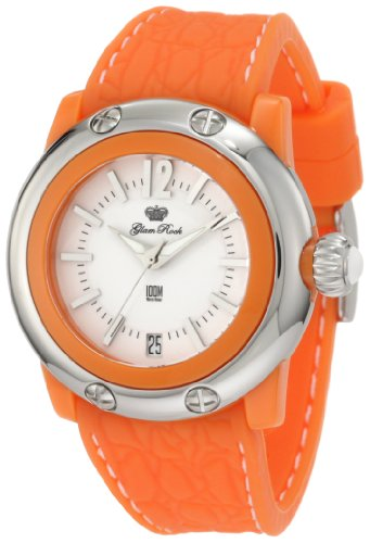 Glam Rock Women's GR23014 Miss Miami Beach White Dial Orange Silicone Watch