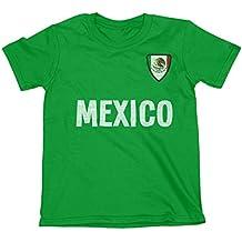 Niños O Niñas Mexico Country Name and Badge Camiseta Fútbol Copa Mundial ...