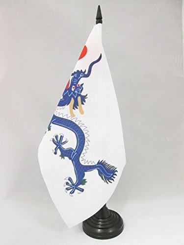 AZ FLAG Bandera de Mesa de China DINASTIA Qing 21x14cm - BANDERINA de DESPACHO Dragon Chino 14 x 21 cm