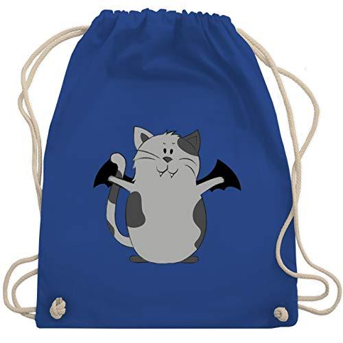 Halloween - Katze Halloween - Unisize - Royalblau - WM110 - Turnbeutel & Gym Bag (Namen Halloween Katze)