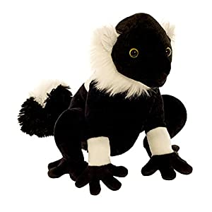 Wild Planet- All About Nature-25cm Lemure Negro-Hecho a Mano, Peluche Realistico, (K7968)