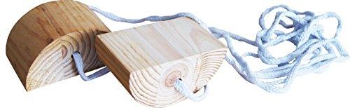 Laufspiel Kinderlaufspiel Holz Kinderstelzen Holzstelzen Ministelzen Kinder Spiel Spielzeug Braun/Weiß S080