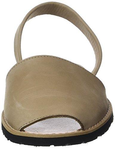 Minorquines Avarca, Sandali con Cinturino alla Caviglia Unisex – Adulto Beige (Costa1)