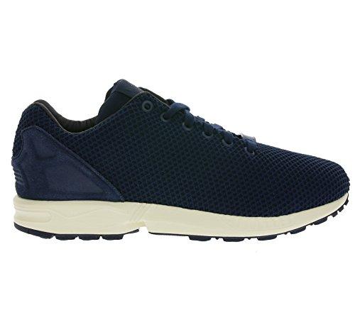 adidas ZX Flux, Unisex-Erwachsene Sneakers Blau (Navy/Weiß)