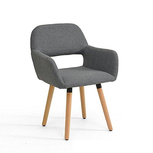 Hocker YANFEI Eisenrahmen + Massivholz Sessel Baumwolle Stuhl Lernen Stuhl Stuhl Moderne Minimalistische Stuhl 79 * 40 * 42 cm Abnehmbar (Farbe : Grau)