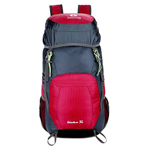 Wandern Rucksäcke, Taschen, Wander-Taschen, Outdoor-Taschen, wasserdicht Outdoor Rucksack Falten gules