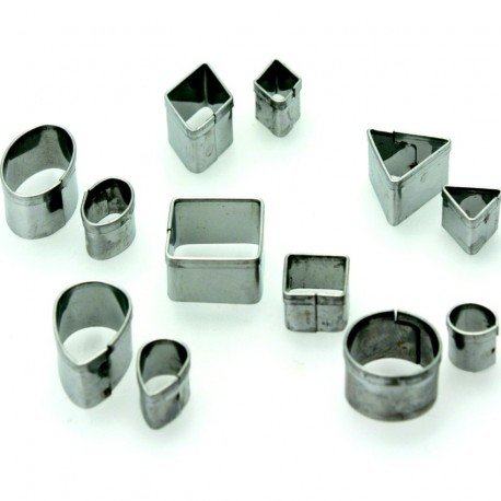12Stück Minis Ausstechformen Metall, kleinen geometrischen Formen 8bis 20mm