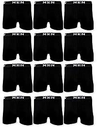 sockenkauf24 4   10   20 Boxershorts Baumwolle Men Herren Retro Shorts Schwarz Blau Grau M L XL XXL XXXL