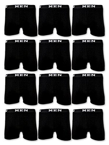 4 | 10 | 20 Boxershorts Baumwolle MEN Herren Retro Shorts Unterhosen (XL | 7, 20 Stück | Schwarz)