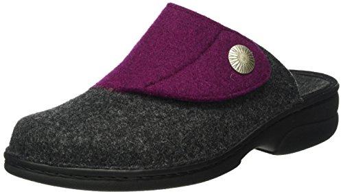 Berkemann Damen Donella Pantoffeln Mehrfarbig (grau/lila 658)