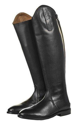HKM Bottes d'équitation Homme Italy Soft Cuir courte/Large Noir - Noir