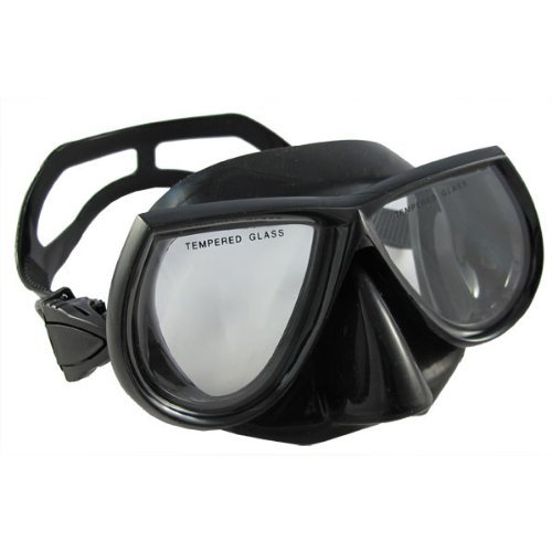 Scuba Choice Scuba Diving Spearfishing Free Dive Low Volume Black Silicone Mask by Scuba Choice