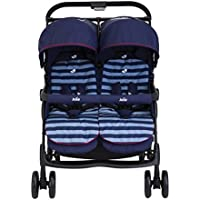 Joie Aire Twin - Silla de paseo doble, diseño Nautical Navy