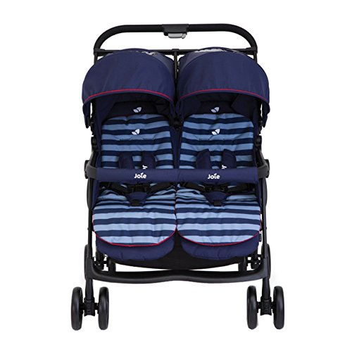 Joie Aire Twin Zwillingsbuggy inkl. Regenverdeck Nautical Navy