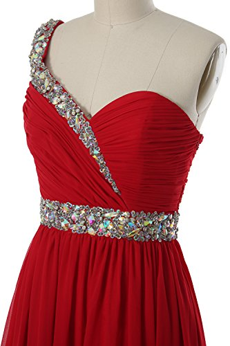MACloth Gorgeous One Shoulder Short Prom Homecoming Dress Formal Party Gown Canari