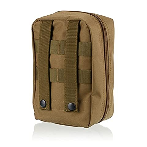 Qearly Travel Survival First Aid Kit Utility Pouch fuer Outdoor Camping-Khaki