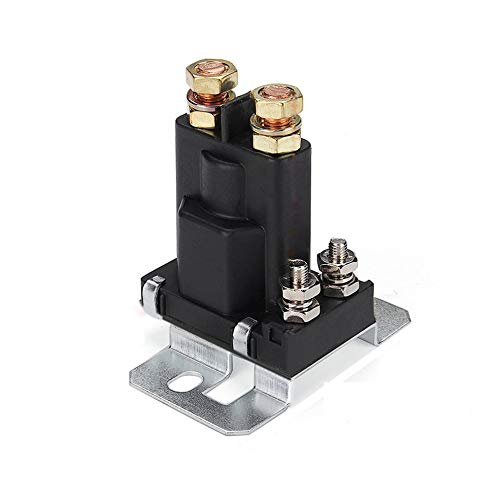 CHOULI 4 Pin 12V AMP 500A Relay Car Starter On/Off Power Switch Dual Battery Isolator Black -