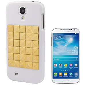 Diamond Style Golden Rivet Plastic Protective Case for Samsung Galaxy S IV / i9500 (White)