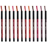 Bold matte lip liner for girls and women by swiss beauty set of 12