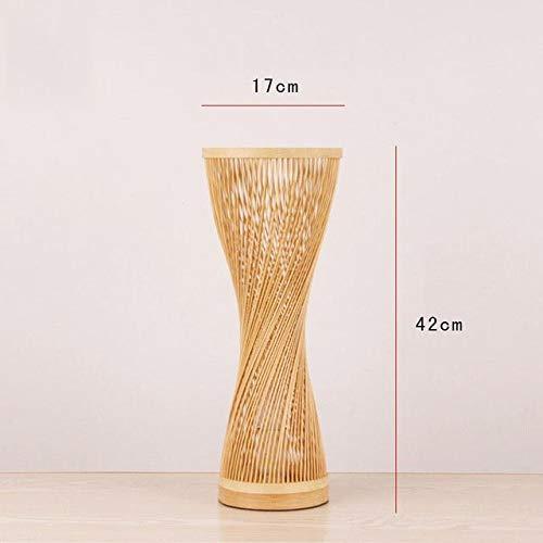 TTCDY Nachttischlampe Bambus Wicker Rattan Spire Vase Tischlampe Leuchte Schreibtisch Licht Schlafzimmer Nacht