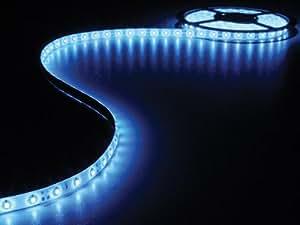 JEU DE FLEXIBLE LED ET ALIMENTATION - BLEU - 180 LEDS - 3M - 12VCC