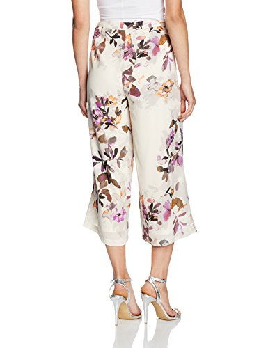 VERO MODA Damen Hose Mehrfarbig (Antique White AOP:JAPAN FLOWER PURPLE)