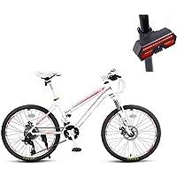 Bicicleta, Bicicleta De Montaña, 24 Pulgadas De 27 De Velocidad De Disco Doble Freno De Aleación De Aluminio De Alta Gama De Vehículos Todoterreno, ...