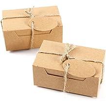 Set de 50 Cajas para dulces regalos Jab/ón Caja kraft Blanco de boda R/ústico Cajita de Rect/ángulo Kraft Paper Blanco CLE DE TOUS