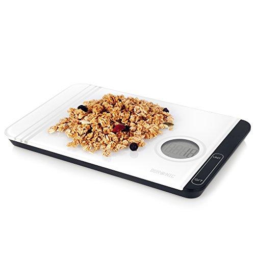 Duronic KS885 ultradünne Digitale Küchenwaage/Digitalwaage/Elektronische Waage, LCD Display, 5 kg, Tara-Funktion