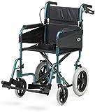 Days Escape Lite Attendant Racing Green Propelled Transit Transport Folding Lightweight Aluminium Wheelchair with Standard Width