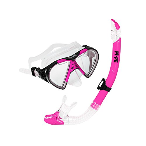 PI-PE Taucherbrille & Schnorchel Set Active Pink