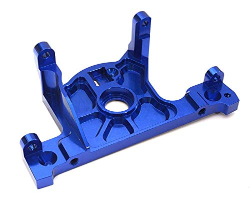 Integy RC Model Hop-ups C27984BLUE Billet Machined Motor Mount Block for Traxxas Slash 4X4 LCG Chassis 4x4-mount